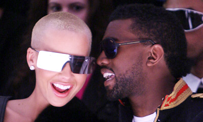 Amber Rose & Kanye West hairstyles