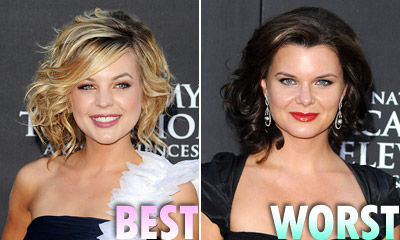 Kirsten Storms and Heather Tom hairstyles