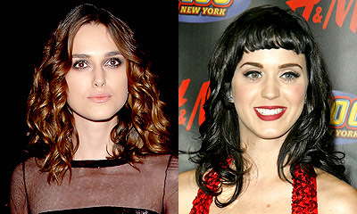 Keira Knightley and Katy Perry hairstyles