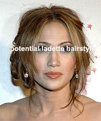 Jennifer Lopez updo hairstyle