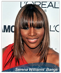 Serena Williams bangs hairstyles