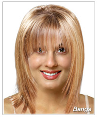 Virtual Hairstyles select a model for test A Bangs Virtual Hairstyle