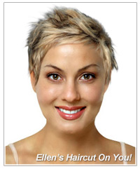 Ellen DeGeneres virtual hairstyle