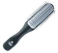 Half radial hair brush
