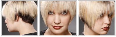 Dry short blonde hair