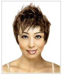 Oblong face shape short hairstyle