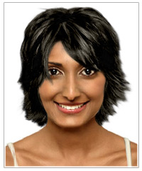 Round face shape short hairstyle