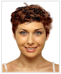 Triangular face shape short hairstyle