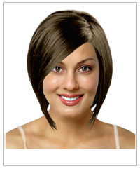 Medium straight bridal hairstyle
