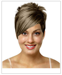 Short straight bridal hairstyle