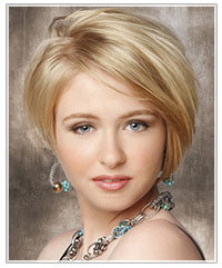 Model with short blonde textured hair