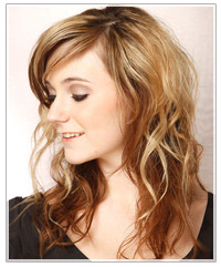 Model with long two-tone hair