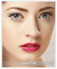 Model with dark pink lips