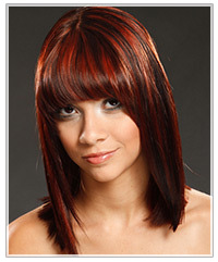 Model with straight medium length hair