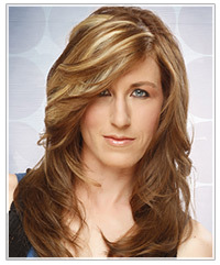 Model with long brown hair