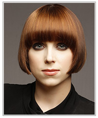 Model with a sleek bob