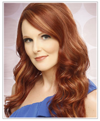 Model with long red hair