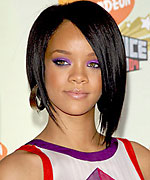 Rihanna concave hairstyle