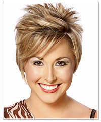 Model with short spiky hair