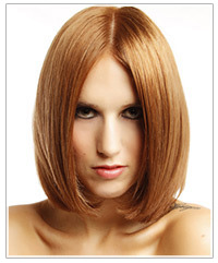 Model with straight red hair
