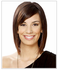 Model with brown bob