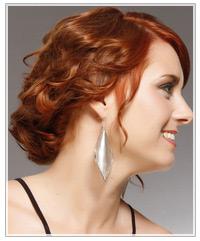 Model with red medium length hair