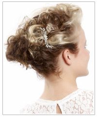 Model with hair clip accessory