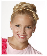 Model with braided updo