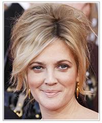 Stupendous Drew Barrymore39S Bouffant Updo Celebrity Thehairstyler Com Short Hairstyles For Black Women Fulllsitofus