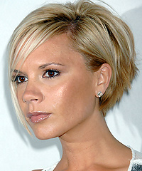 Victoria Beckham's bob hairstyle -  Left Side