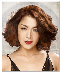 Model with brunette hair color