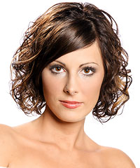 Curly medium mod hairstyle
