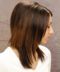 Straight long hairstyles
