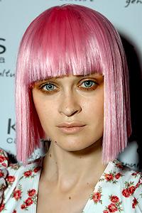 Pink bob hairstyle