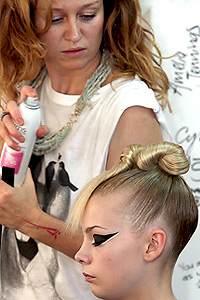 Twist top hairstyle