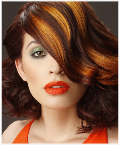 Model with red highlights