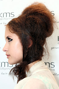 Bonnet inspired hairstyle