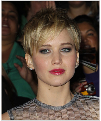 Pleasing From Long To Short Jennifer Lawrence39S New Hairstyle Hairstyles Short Hairstyles Gunalazisus