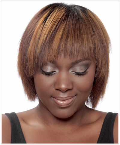 Model with short, jagged hair