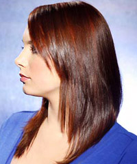 Straight long brown hairstyle