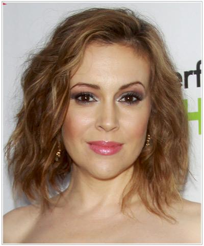 Alyssa Milano hairstyles