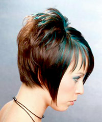Hairstyle with colored highlights