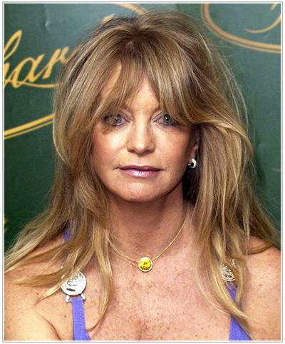 Awe Inspiring Goldie Hawn39S Long Hairstyles For Older Women Hairstyles Short Hairstyles For Black Women Fulllsitofus