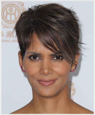 Cool Halle Berry39S Hairstyles Then And Now Celebrity Thehairstyler Com Short Hairstyles For Black Women Fulllsitofus