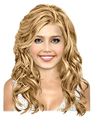 Long wavy light titian hairstyle