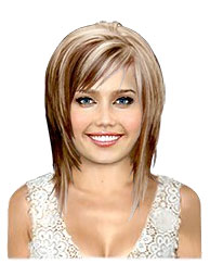 Same haircut different hair color for medium concave bobs blonde with dark brown highlights pmusecretfo Images