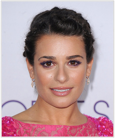 Lea Michele Updo Braided Hairstyle