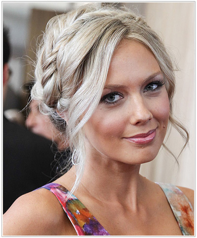 Melissa Ordway updo hairstyle