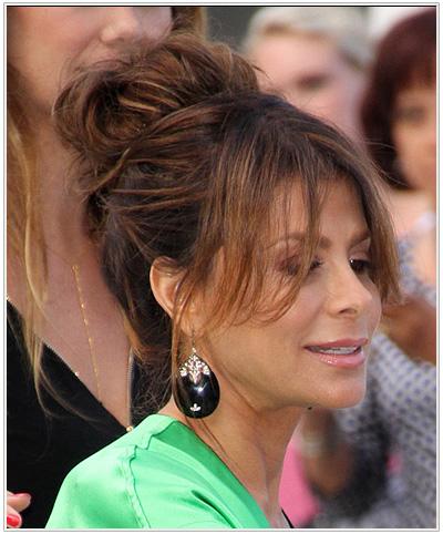 Paula Abdul updo hairstyle