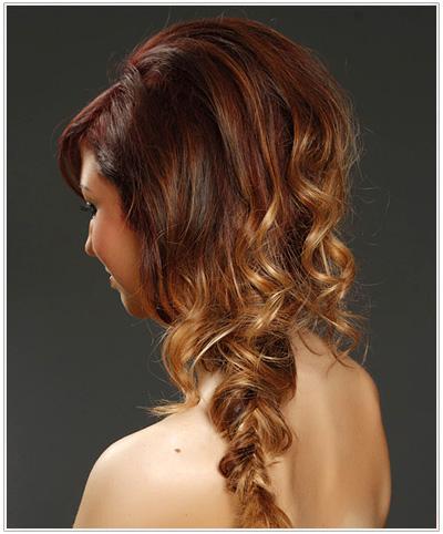 Twisted fishtail braids